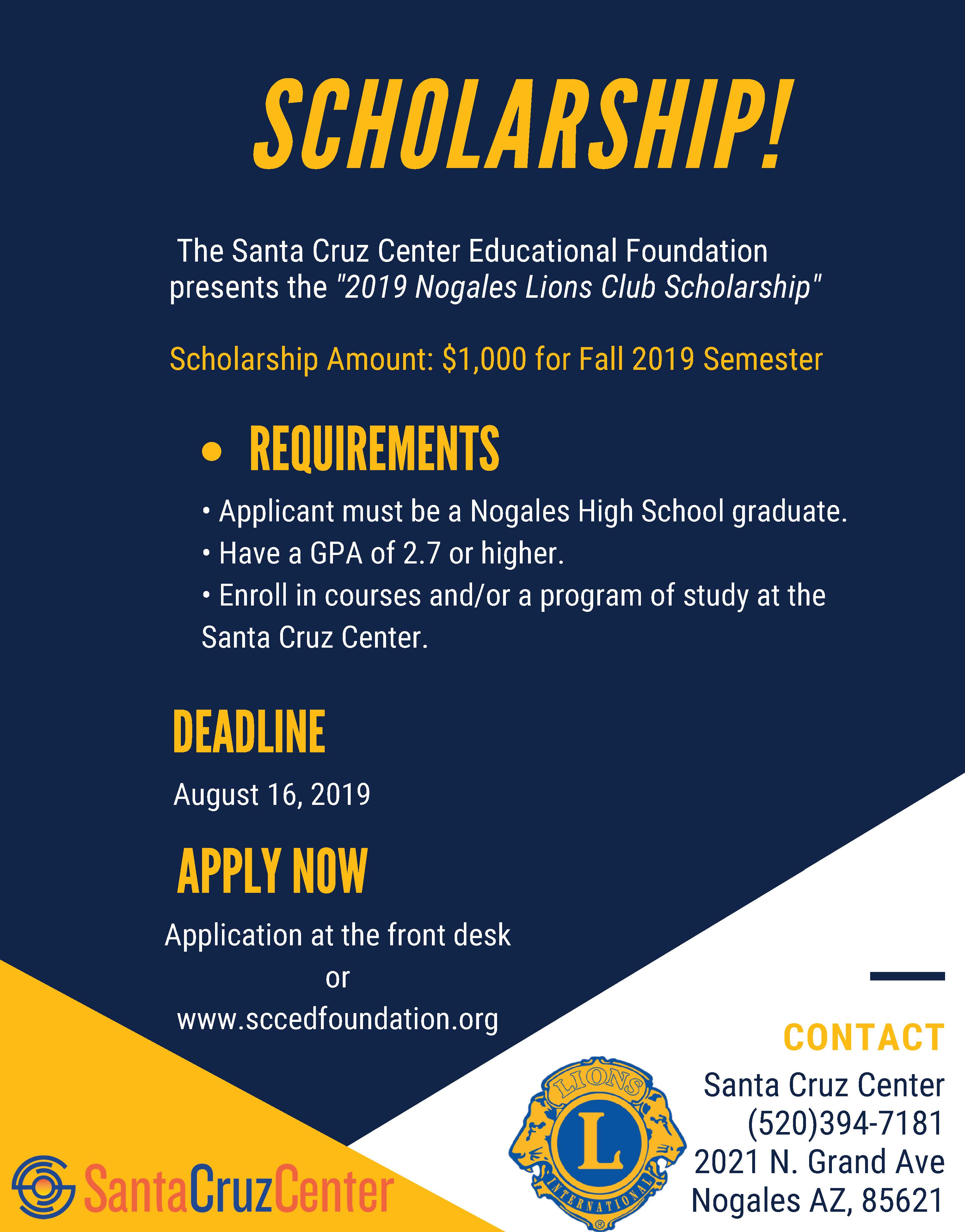 Scc Fall 2020.Scholarships Scc Educational Foundation